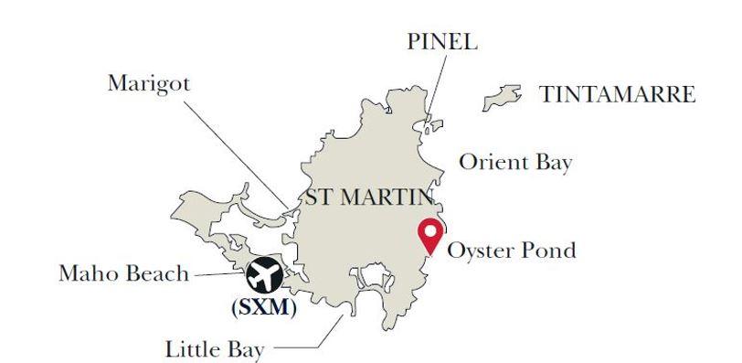 St. Martin map