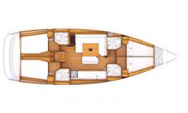 Sunsail 47 Monohull Layout