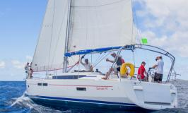 Sunsail 47 segelnd